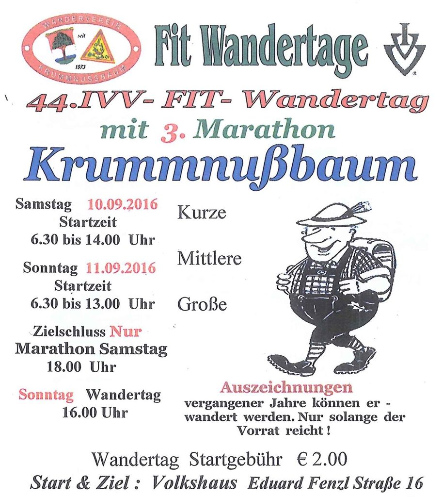 Ivv Wandertag Krummnußbaum Bürgerservice Mit Zukunft